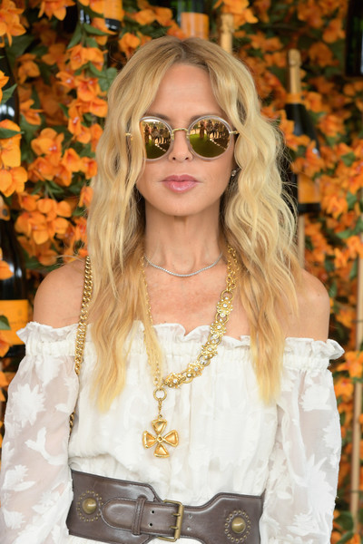 Rachel Zoe attended the Veuve Clicquot Polo Classic Los Angeles wearing her hair in boho-glam waves.