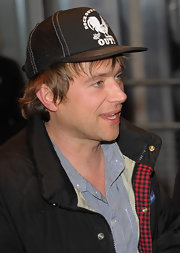Damon showed off a mesh trucker hat while attending a premiere in London.