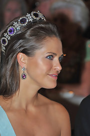 Princess Madeleine wore an impressive pair of gemstone encrusted earrings for the Nobel Banquet in Stockholm.