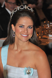 Princess Madeleine brought out the sparkle of her gray peepers by opting for a subtle smoky eye and lavender eyeshadow at the Nobel Banquet.