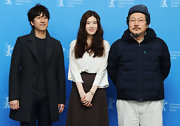 Hong Sangsoo chose a modern pea coat for a simple and sophisticated look at the Berlin Film Festival.