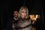 Noomi Rapace Fur Scarf
