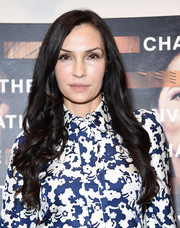 Famke Janssen framed her face with a long wavy hairstyle for the New York screening of 'Notes from the Field.'