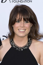 Princess Eugenie rocked a shoulder-grazing 'do with big and bold bangs at the Novak Djokovic Foundation Dinner.