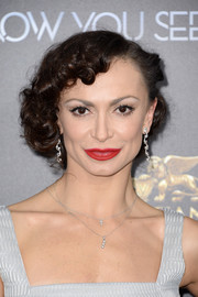 Karina Smirnoff wore her hair in pinned-up curls during the 'Now You See Me 2' world premiere.