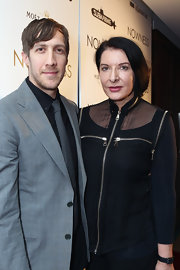 Those zip details added a lot of flair to Marina Abramovic's sheer black blouse.
