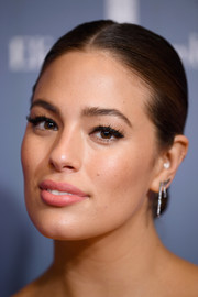 Ashley Graham looked oh-so-elegant wearing this center-parted chignon at the special NYC screening of 'A Wrinkle in Time.'