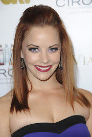 Amy Paffrath attended the 'OK!' magazine pre-Oscar party wearing a rich boysenberry-hued lipstick.