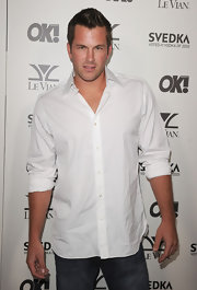 Doug looked sharp with this new haircut at the OK Magazine party.