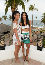 Chanel Iman was a cutie at the Oakley Learn to Ride-Surf event in her white crochet cover-up.