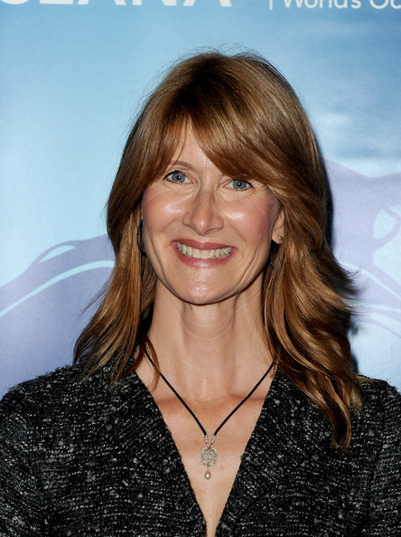 More Pics of Laura Dern Medium Wavy Cut with Bangs (1 of 3) - Medium Wavy Cut with Bangs Lookbook - StyleBistro
