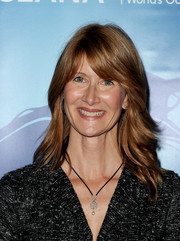 Laura Dern was '70s-chic at the Oceana Partners Awards Gala with her feathered waves and eye-grazing bangs.