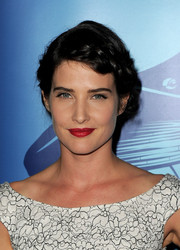 Cobie Smulders topped off her look with a romantic braided updo when she attended the Oceana Partners Awards Gala.