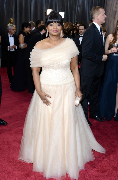 Octavia Spencer One Shoulder Dress