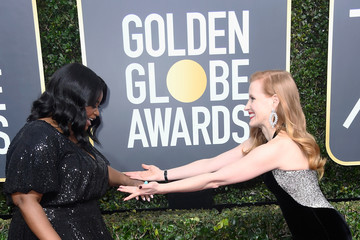 Octavia Spencer Jessica Chastain 75th Annual Golden Globe Awards - Arrivals