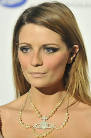 Mischa Barton swept on shiny gunmetal gray eyeshadow and black liner for the official launch of BritWeek 2012.