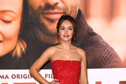 Olivia Cooke Strapless Dress