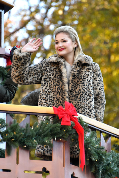 Olivia Holt Fur Coat