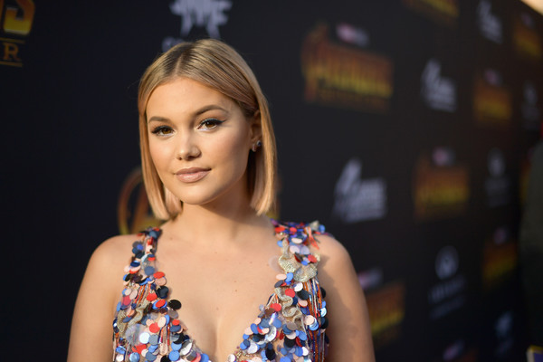 Olivia Holt Bob [avengers: infinity war,hair,face,beauty,blond,model,fashion,brown hair,photography,long hair,fashion accessory,olivia holt,california,hollywood,los angeles global premiere,marvel studios]