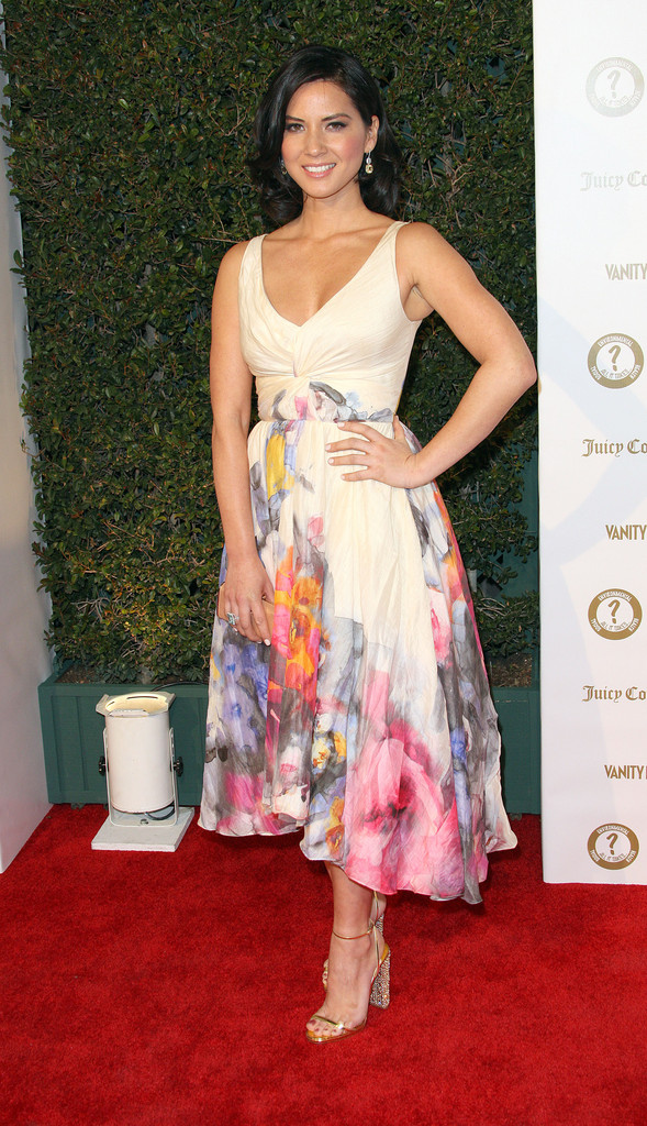 Olivia Munn Print Dress Olivia Munn Clothes Looks