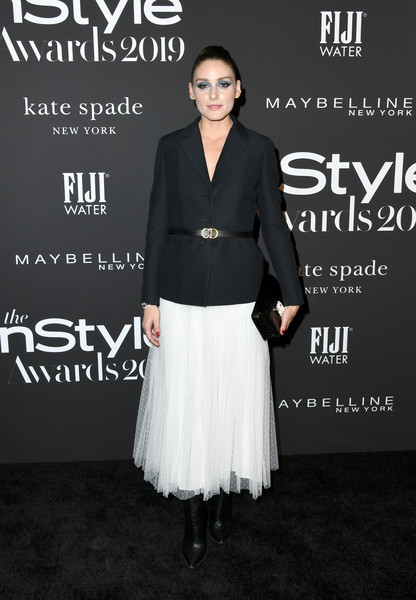 Olivia Palermo Blazer [clothing,dress,fashion,cocktail dress,footwear,premiere,outerwear,neck,event,photography,arrivals,olivia palermo,instyle awards,fifth annual instyle awards,the getty center,los angeles,california]