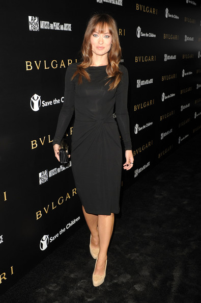 Olivia Wilde Steps Out In A Michael Kors Little Black Dress