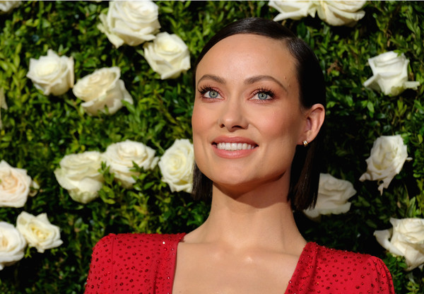 Olivia Wilde Side Parted Straight Cut [red carpet,hair,lip,hairstyle,beauty,lady,blond,cheek,rose,smile,flower,olivia wilde,tony awards,radio city music hall,new york city]