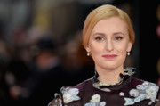 Laura Carmichael opted for a conservative loose bun when she attended the Olivier Awards.