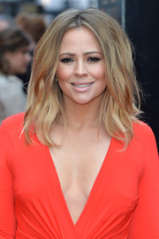 Kimberley Walsh attended the Olivier Awards rocking a teased and textured hairstyle.