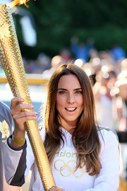 Mel C wore her hair in a basic layered cut for the 2012 Olympic Torch Relay.