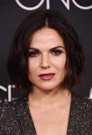 Lana Parrilla looked edgy with her mildly messy bob at the 'Once Upon a Time' series finale screening.