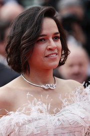 Michelle Rodriguez looked pretty with her bob at the 2019 Cannes Film Festival screening of 'Once Upon a Time in Hollywood.'