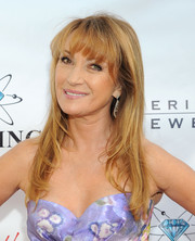 Jane Seymour attended the Open Hearts Foundation Gala wearing her trademark long waves and bangs.
