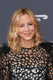 Maria Bello framed her face with a shoulder-length wavy 'do for the 2019 Monte Carlo TV Festival opening ceremony.