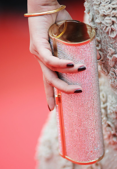 More Pics of Aishwarya Rai Dark Nail Polish (1 of 30) - Nails Lookbook - StyleBistro [pink,red,peach,hand,lip,finger,material property,nail,fashion accessory,cannes,france,cannes film festival,opening ceremony,palais des festivals,64th cannes film festival,aishwarya rai bachchan]