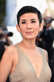 Sandra Ng opted for a neat pixie when she attended the Venice Film Festival opening ceremony.
