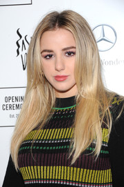Chloe Lukasiak wore a loose straight hairstyle at the Opening Ceremony Spring 2019 show.