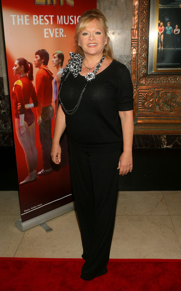 Charlene Tilton went out to see the premiere of 'A Chorus Line' in an all-black outfit featuring a pair of classic slacks.