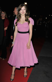 Lea was pretty in pink for the Cannes Film Festival wearing a girly frock.