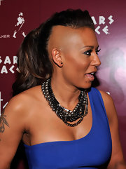Mel B showed off her freshly shaven mane on the red carpet. There has been a recent popularity of half shaven heads in Hollywood. What gives?