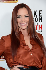 Jessica Sutta wore her sleek and straight hair down and center-parted at the opening night of 'Mike Tyson: Undisputed Truth.'