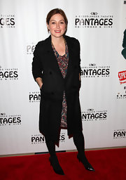 Sasha Alexander bundled up at the opening of 'Spring Awakening' in a black wool coat.