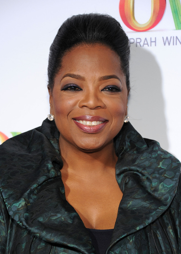 Oprah Winfrey Added Subtle Glitter To Her Look With A Pair Of Diamond Studs During The
