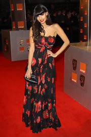 Striking a pose on the BAFTA's red carpet, Jameela Jamil looked simply ravishing in her bold floral print gown.