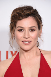 Yael Stone looked fetching wearing this crown braid at the New York premiere of 'Orange is the New Black.'