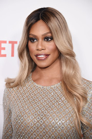 Laverne Cox sported a romantic wavy hairstyle at the New York premiere of 'Orange is the New Black.'