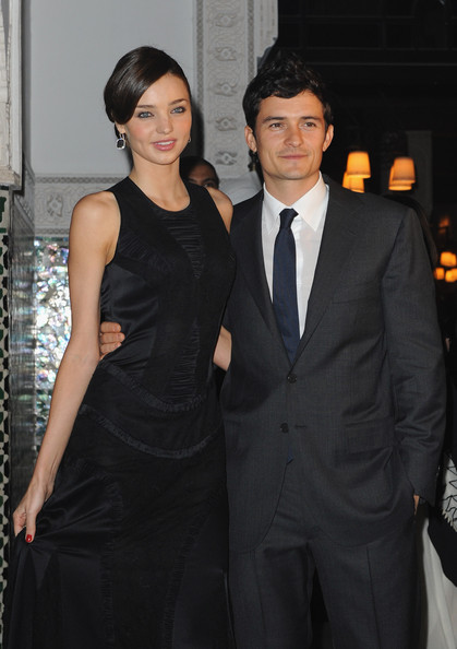 Orlando Bloom Narrow Solid Tie