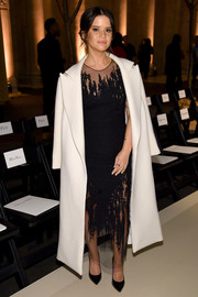 Maren Moriss was edgy-glam in a distressed-effect gown at the Oscar de la Renta fashion show.