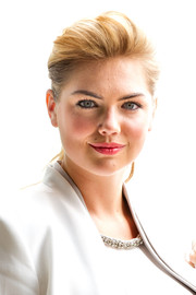 Kate Upton sported a casual yet stylish teased ponytail during the Sydney photocall for 'The Other Woman.'