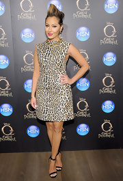 Adrienne Bailon channeled her old 'Cheetah Girls' days with this animal print cocktail dress.